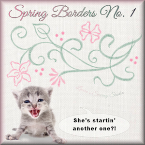 Spring Borders No. 1 - Free Embroidery Design