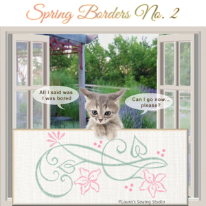 Spring Borders No. 2 - Free Embroidery Design