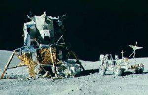Apollo 16 Lunar Module and Rover