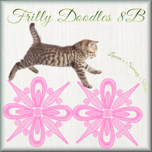 Frilly Doodles No. 8b – Free Embroidery Design, first 500