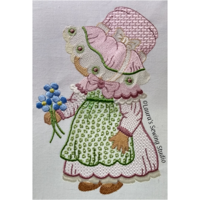 Wing Needle Sunbonnet Sue, Susie, machine embroidery
