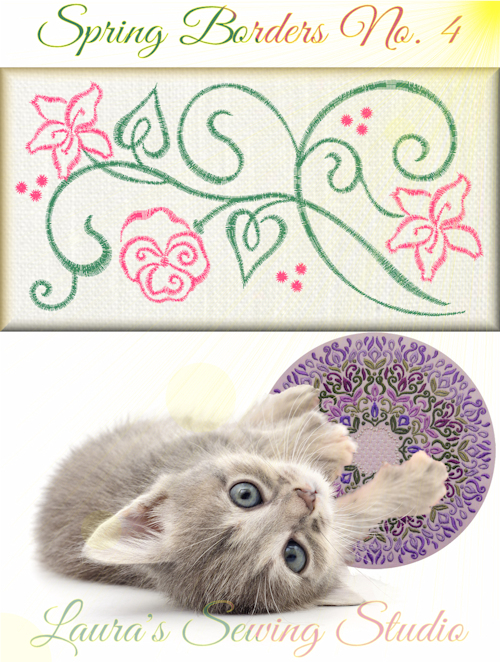 Spring Borders No. 4 Free Embroidery Design